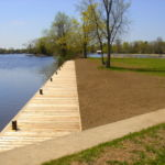 Bobcaygeon Waterfront completed Boardwalk