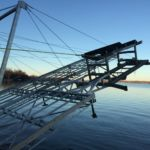 Hydraulic Lift with winter attachment built into dock system
