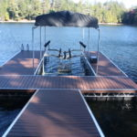 Hydraulic Boat Lift with Floating Dock System